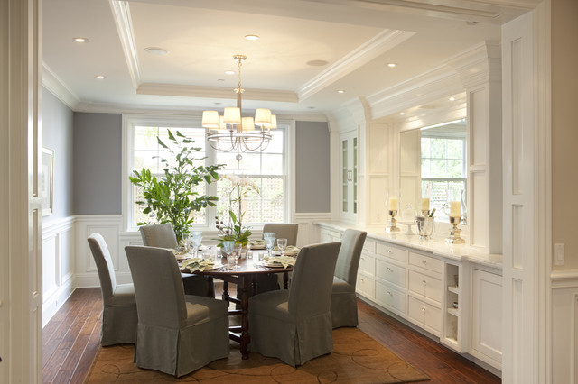 Traditional Dining Room by Arch Studio, Inc.