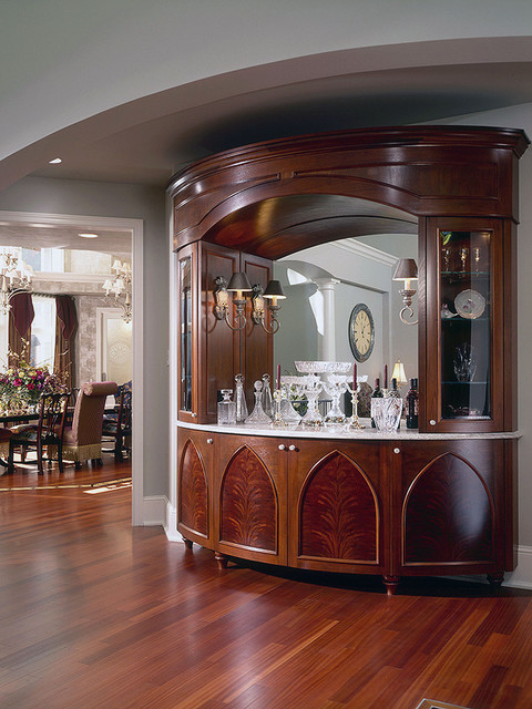 Dining room bar cabinet traditional dining room for Dining room cabinets