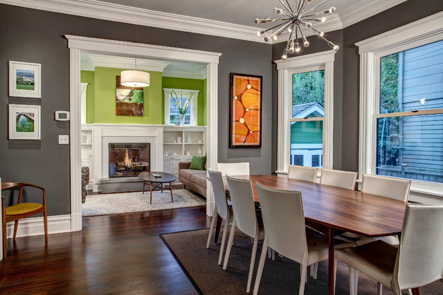 dining room craftsman dining room seattle by board and vellum