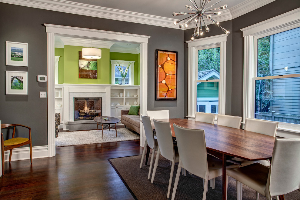 Inspiration for a craftsman great room remodel in Seattle