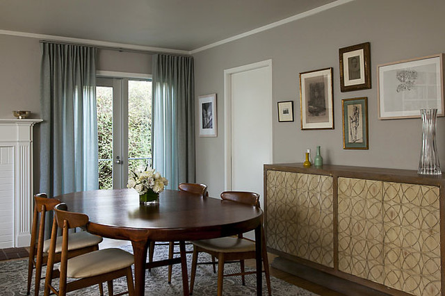 Dining room curtains eclectic curtains san francisco for Dining room drapes