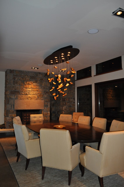 Dining room custom chandelier modern dining room for Dining room chandeliers contemporary