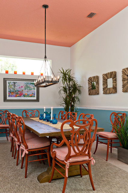 Dining room design tropical dining room miami by for Tropical dining room ideas