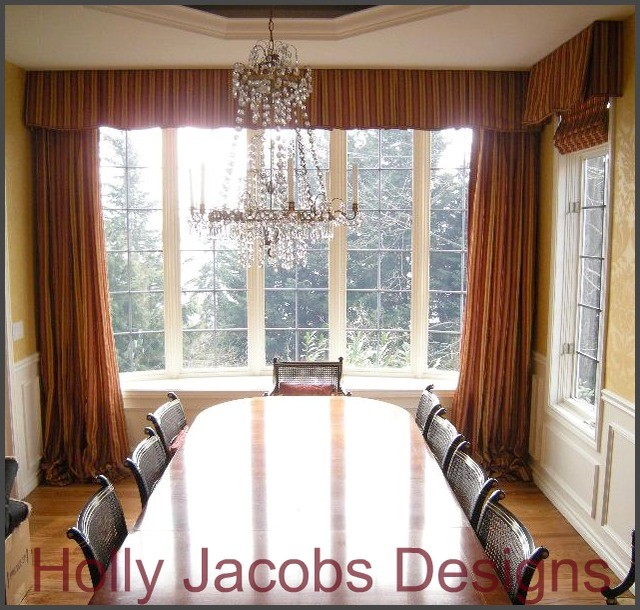 dining room drapery traditional dining room seattle by