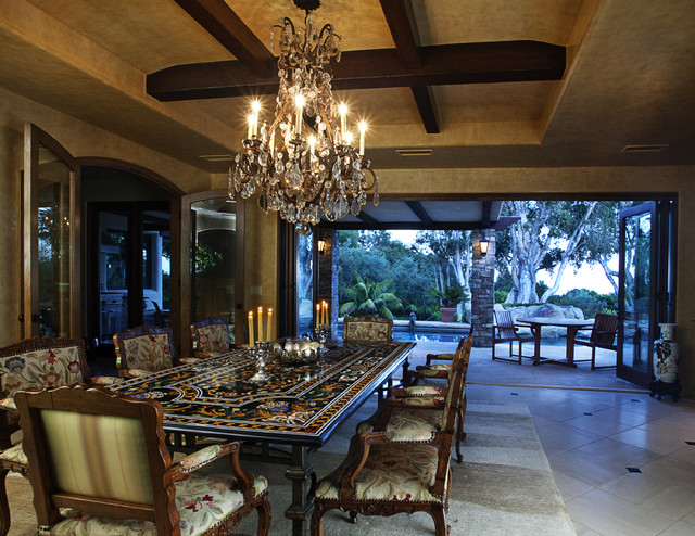 Dining room mediterranean dining room santa barbara for Dining room design questions