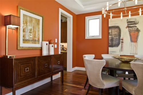 ways you can incorporate orange into your dining room design