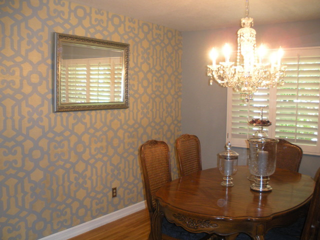 Feature Wall Dining Room Ideas Part - 29: Dining Room Feature Wall Traditional-dining-room