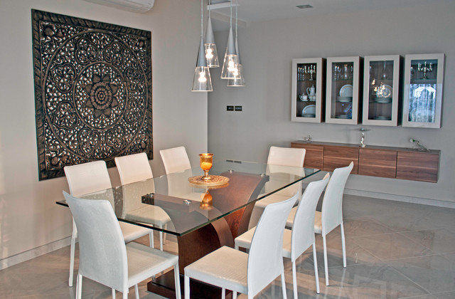 Dining room feature wall mellieha penthouse for Salle a manger orientale