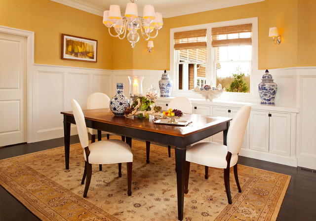 Dining Area With Wainscoting ~ Dining room traditional portland by