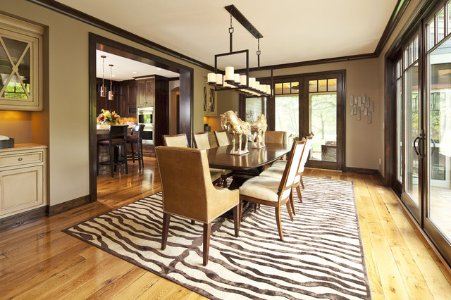contemporary dining room by hendel homes - Dining Room Paint Colors Dark Wood Trim