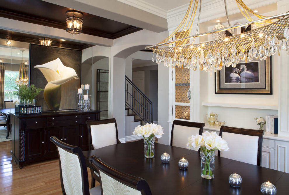 Dining room - traditional dining room idea in San Diego