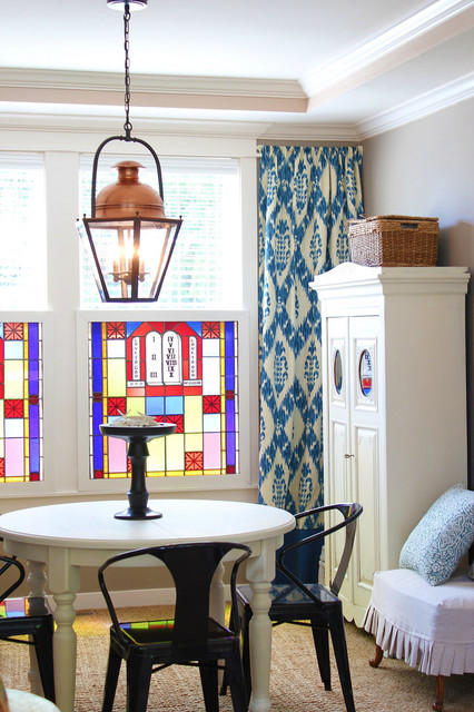 Dining Room Ikat Curtains eclectic-dining-room