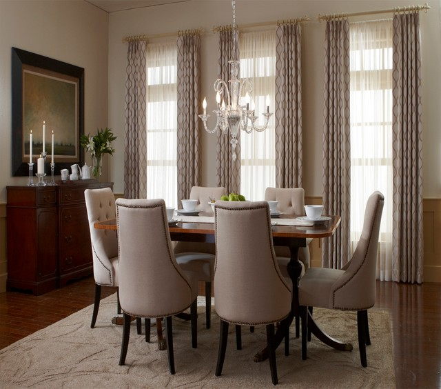 Dining room traditional dining room san diego by for Dining room drapes