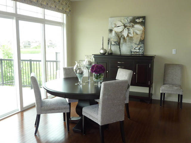 dining room in model home modern dining room