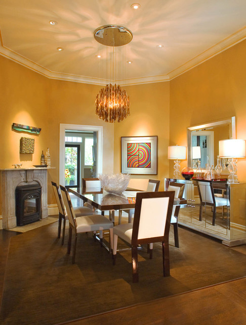 Dining Room In Modern Victorian