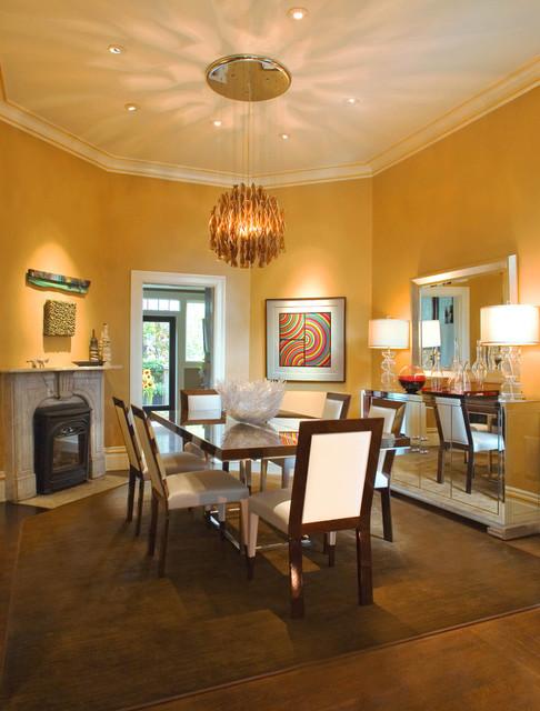 Dining room in modern victorian modern dining room for Victorian dining room