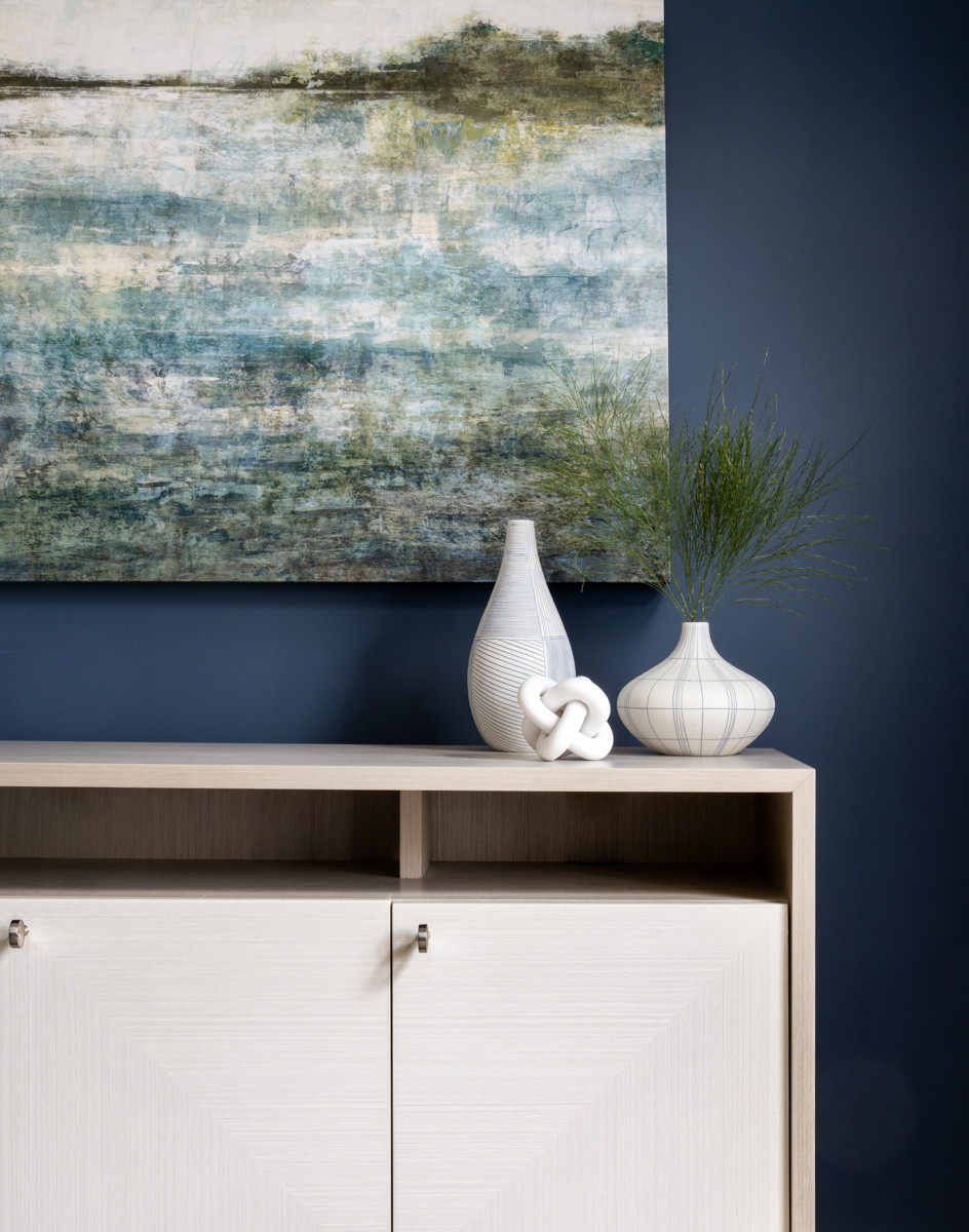 Dining Room in Shades of Blue