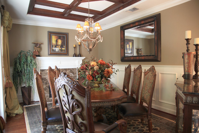 Grey Mediterranean Dining Room By J Hettinger Interiors
