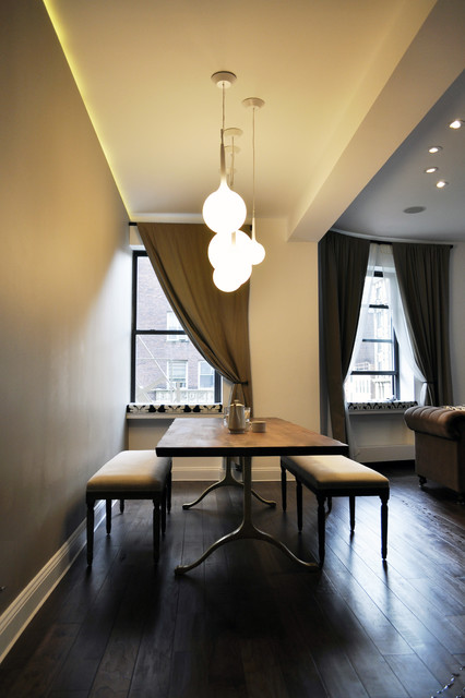 Example of a trendy great room design in New York