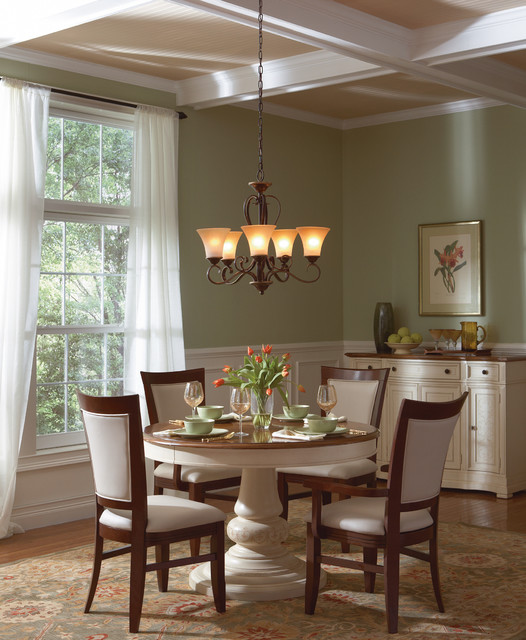 Traditional Dining Room: Dining Room Lighting