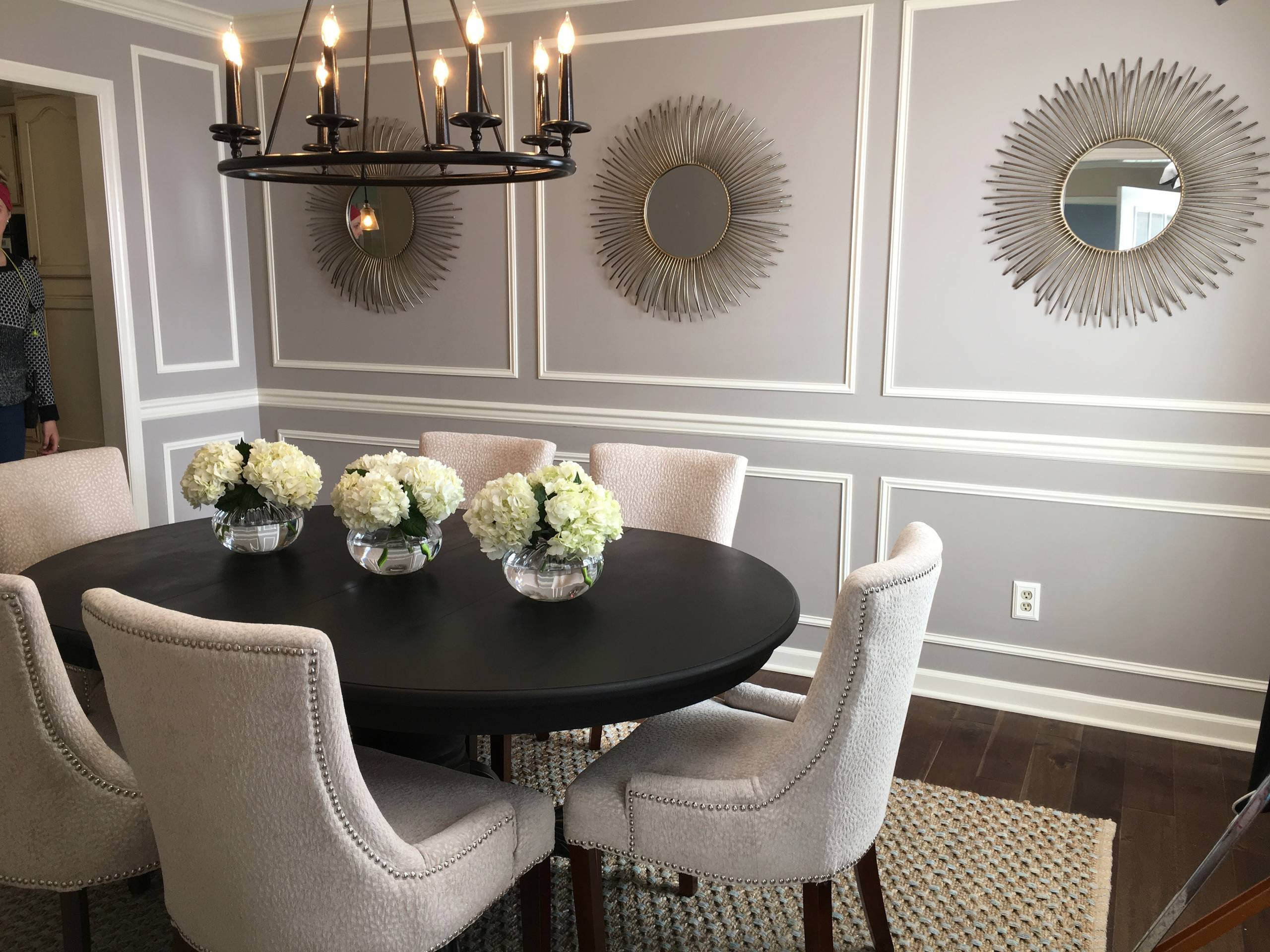 Dining room magic with paint and trim