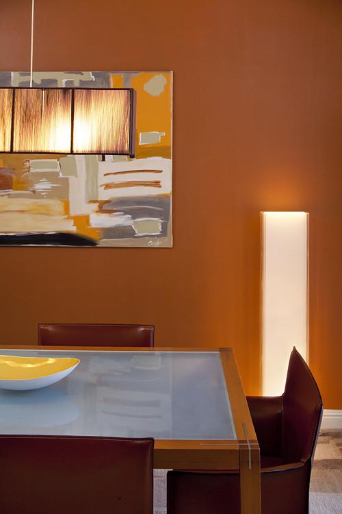 Utilizar color naranja en el comedor