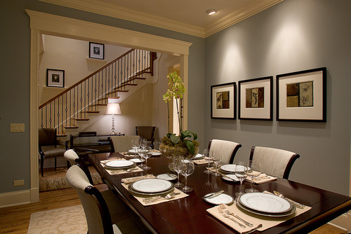 Would It Be Ok To Have A Smoky Gray Blue Paint In The Dining Area When