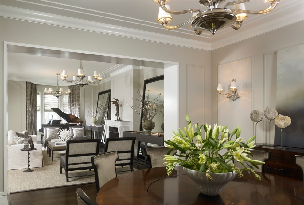 Inspiration for a timeless dining room remodel in Chicago