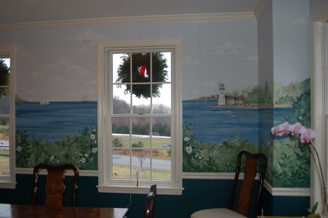 Dining Room Murals traditional-dining-room