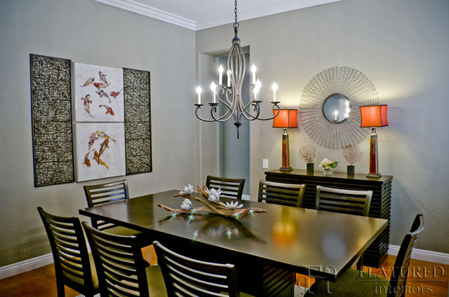 Example Of A Dining Room Design In Las Vegas