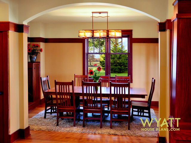 dining room, new craftsman home - craftsman - dining room
