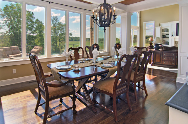 Dining Room Overlookign Protected Wetlands traditional dining room