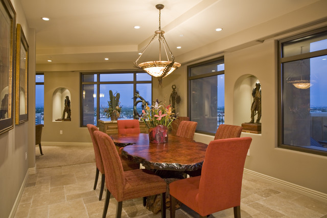 Contemporary Western Interior Dining Room eclectic dining room