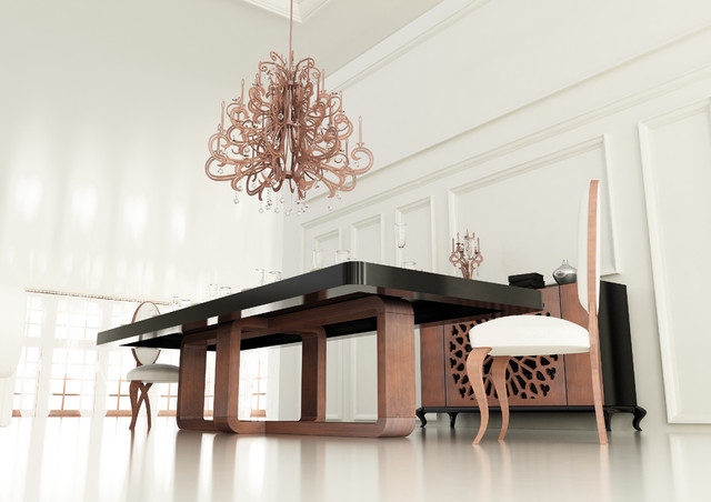 Dining Room Project. Big Dining Table. Contemporary Dining Room