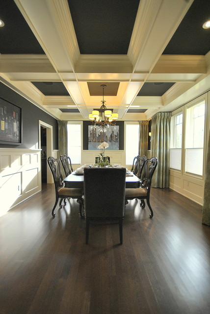 Dining Room Re-Design in Edmonton, AB for Magazine Photo Shoot traditional dining room