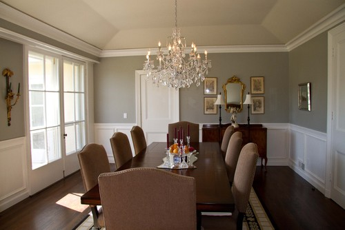 What type of paint and color did you use on the trim for Dining room renovation