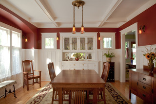 ... White Builtin Buffetchina Cabinet Pops Against Walls Painted Benjamin  Mooreus Palladian Blue Traditional Dining Room With Dining Room Built In  Cabinets.