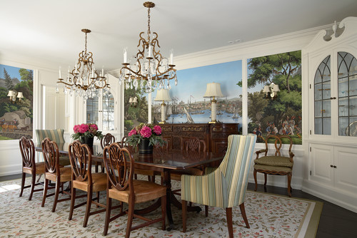 A traditional dining room
