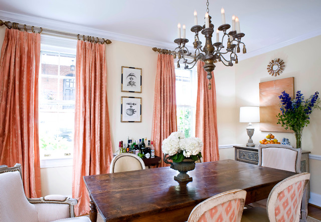 Coral Curtains | Houzz
