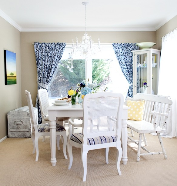Dining room shabby chic shabby chic dining room san francisco by found design - Shabby chic dining rooms ...