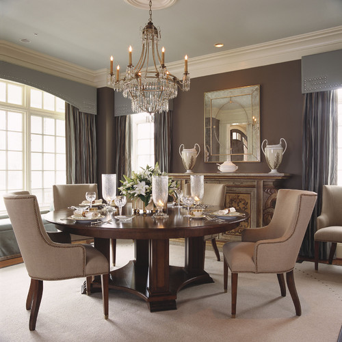 Brown dining room home decor and interior design for Formal dining rooms elegant decorating ideas