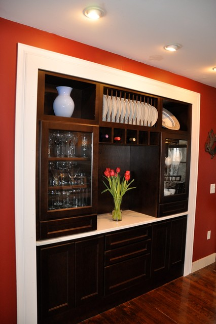 Dining room storage solutions Traditional Dining Room