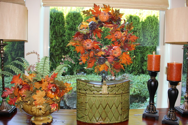 Dining Room - Tuscan Style - Fall Decor traditional-dining-room