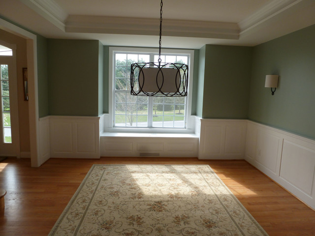 Dining Room Wainscot U0026 Window Seat Traditional Dining Room Part 66