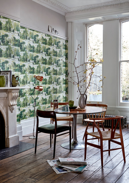Dining room wallpaper ideas - Scandinavian - Dining Room ...