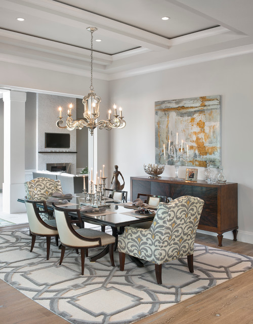 Dining room transitional miami by