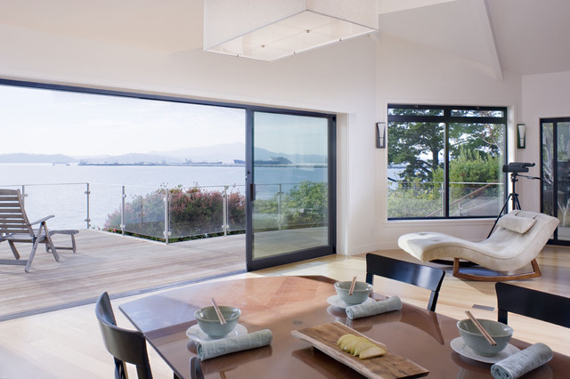 Dining Room Window Out To Deck Modern Dining Room San Francisco By Ca