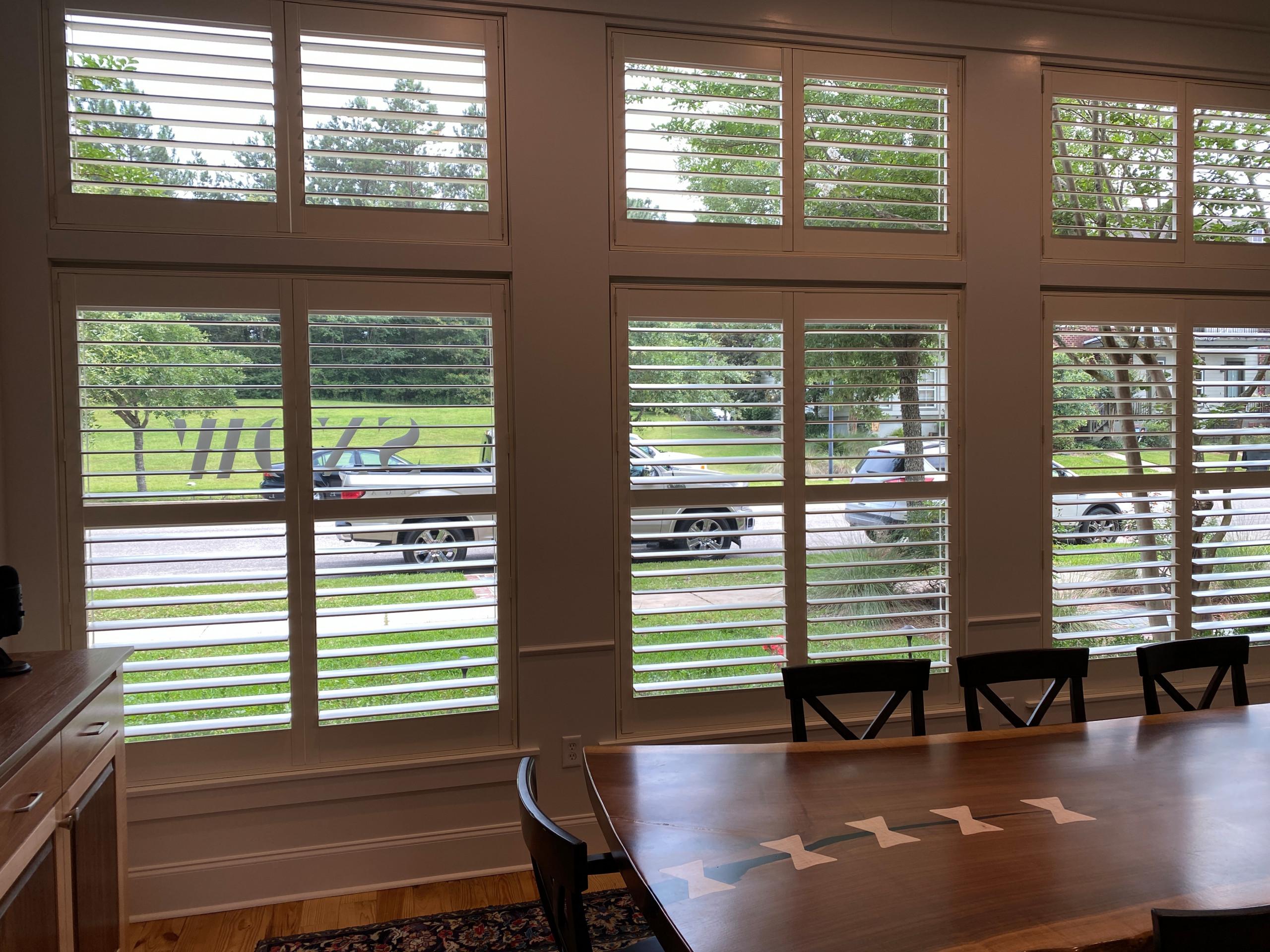 Dining Room Window Shades