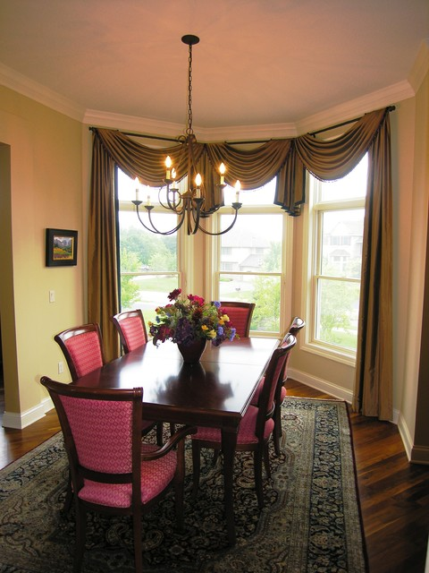 Superior Dining Room Window Treatments Traditional Dining Room Part 14