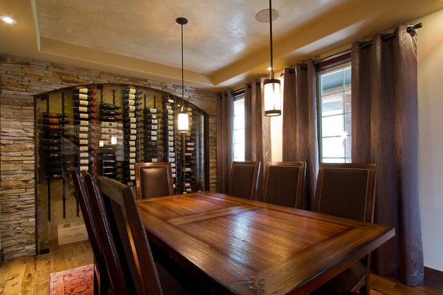 dining room wine cellar. Black Bedroom Furniture Sets. Home Design Ideas